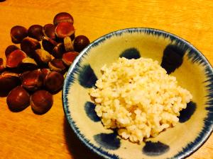 写真:芝栗と玄米ご飯