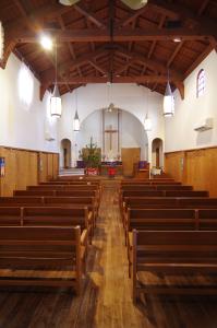 写真:ルーテル賀茂川教会の内部