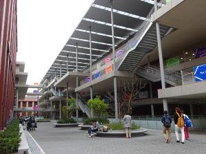 写真:龍谷大学深草キャンパスの新学舎「和顔館(わげんかん)」
