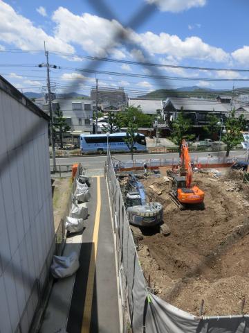 写真:「咲あん上京」解体工事の様子(敷地の南東角)