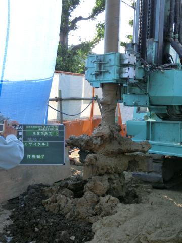 写真:地盤改良工事の様子