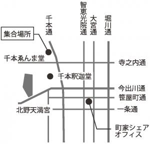 ミセノマ企画「上京1221年の歴史を歩く」コースマップ