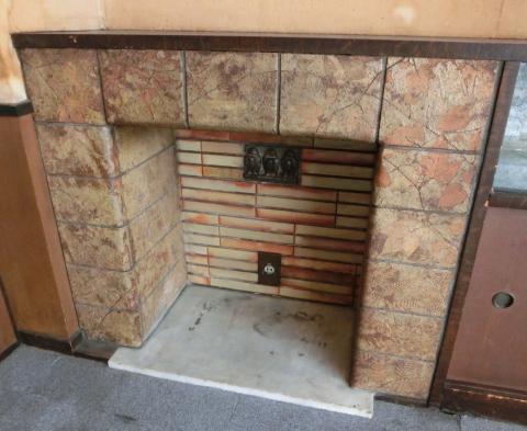 写真:暖炉部分