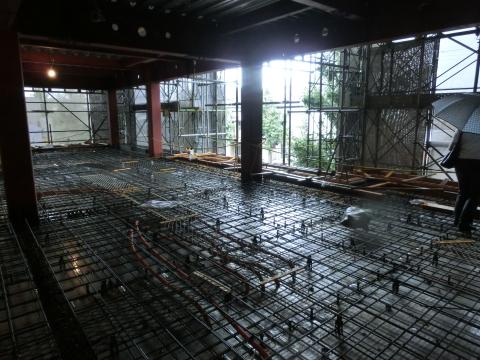 コンクリート床の配筋
