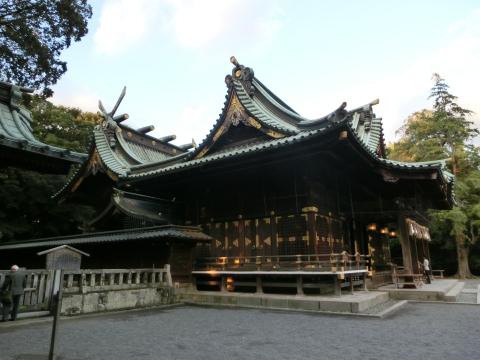 写真:三嶋大社(本殿、弊殿、拝殿)