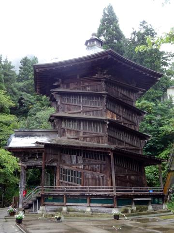 写真:会津さざえ堂(円通三匝堂)
