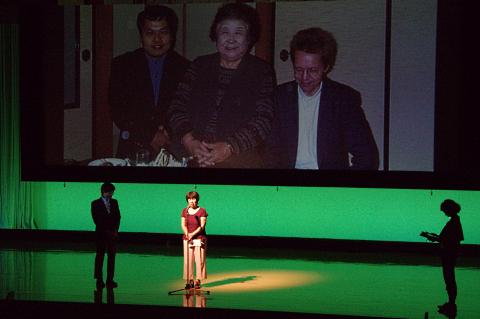 写真:峰山冨美賞を受賞した松居秀子さんのあいさつ