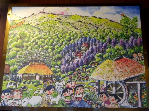写真:舘岩物産館に飾られた絵