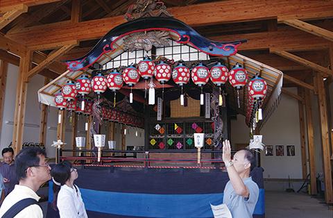 写真:会津田島祇園祭の中屋台