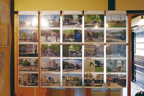 写真:ヨーロッパのLRTの写真展示