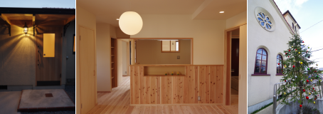 写真:玄関・キッチン・礼拝堂