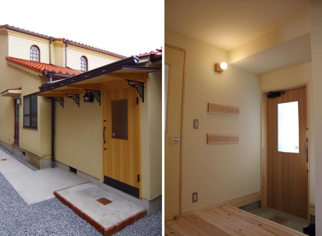 写真:玄関と礼拝堂