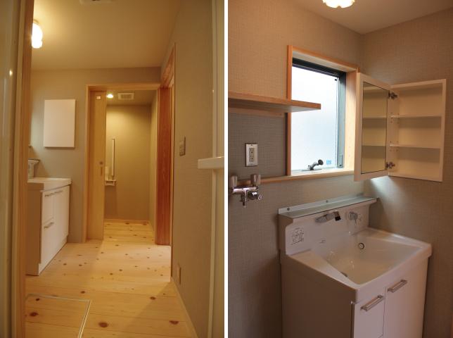 写真:洗面室とトイレ