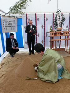写真:「咲あん上京」地鎮祭