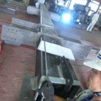 写真:柱の仕上がり実寸を計測