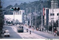 写真:北大路通を走る京都市電(撮影1977年2月13日)